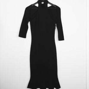 D&G Dolce & Gabbana Black Cocktail Dress Shoulder